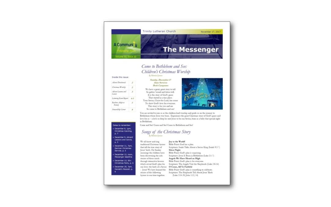 December 1 Trinity Messenger