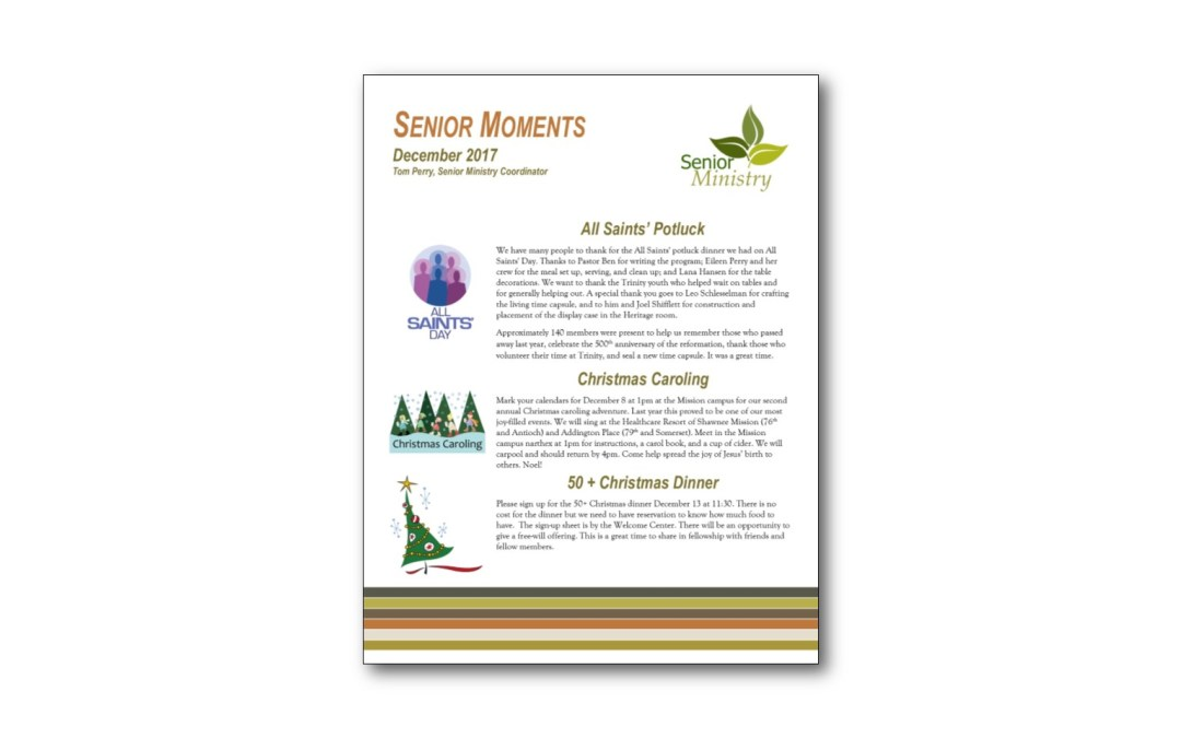December Senior Moments Newsletter