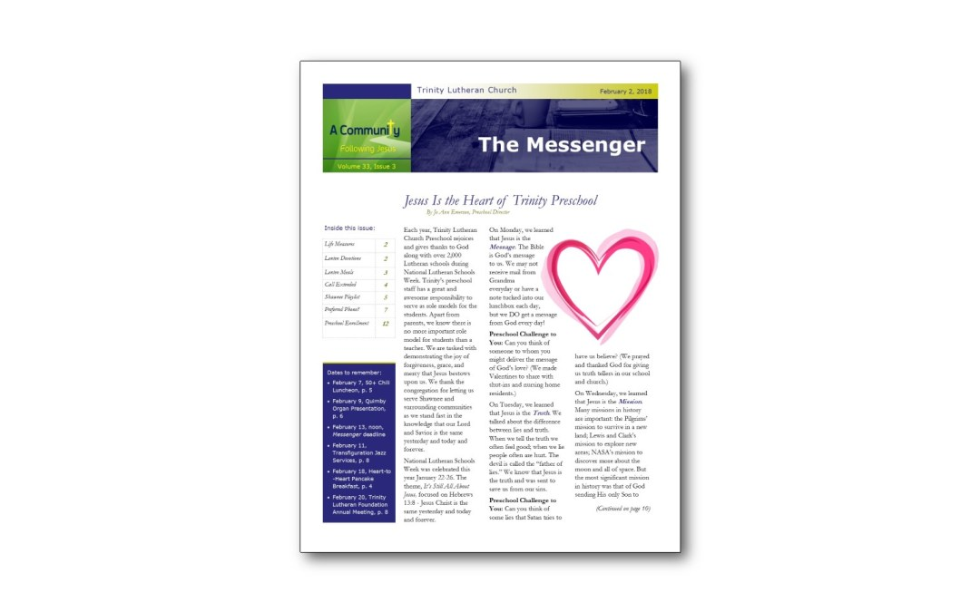February 2 Trinity Messenger