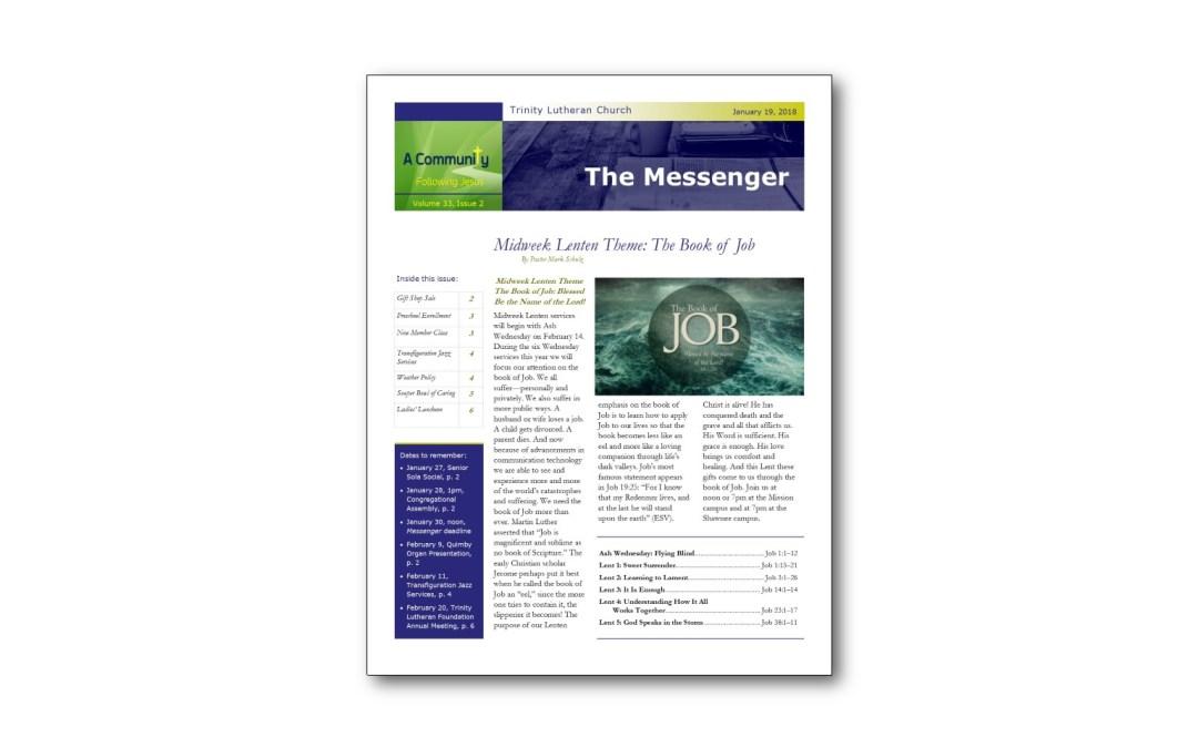 January 19, 2018 Messenger