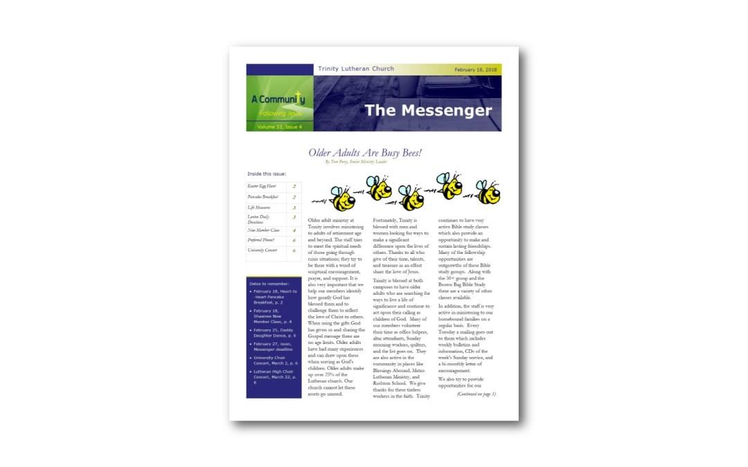 February 16 Trinity Messenger