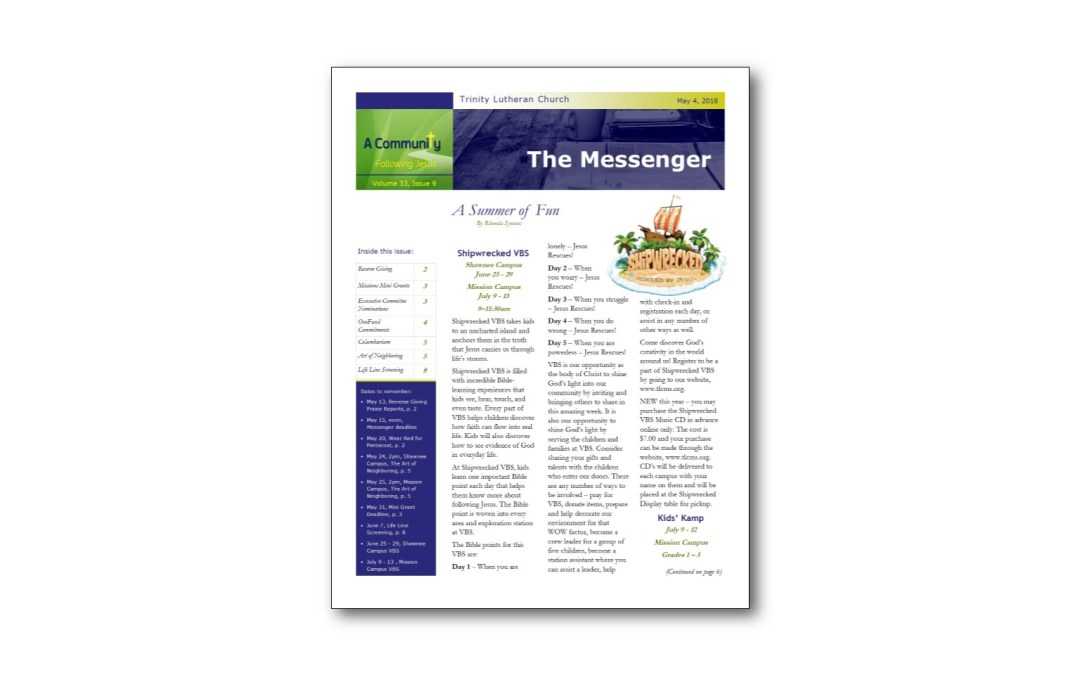 May 4 Trinity Messenger