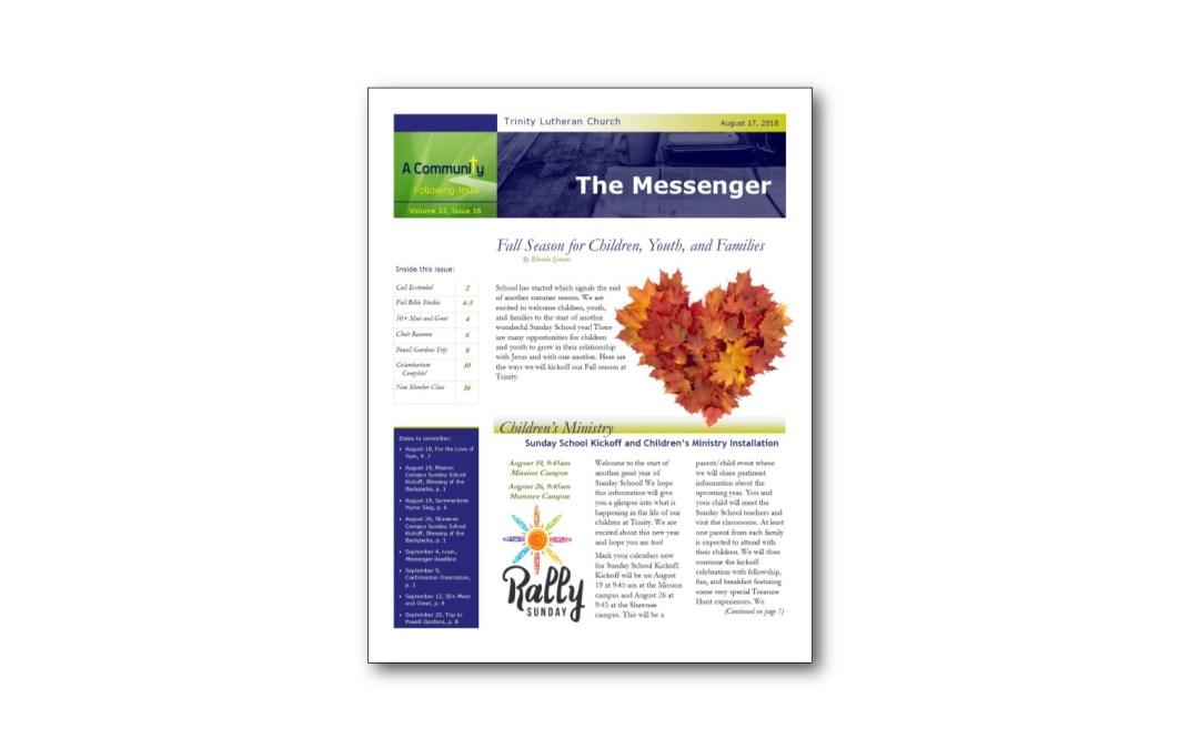 August 17 Trinity Messenger