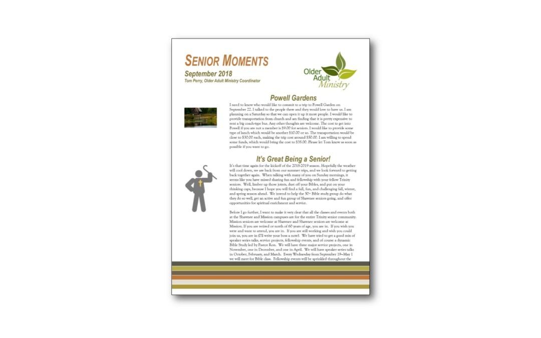 September Senior Moments Newsletter
