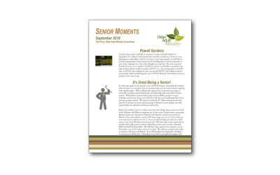 September Senior Moments Newsletter