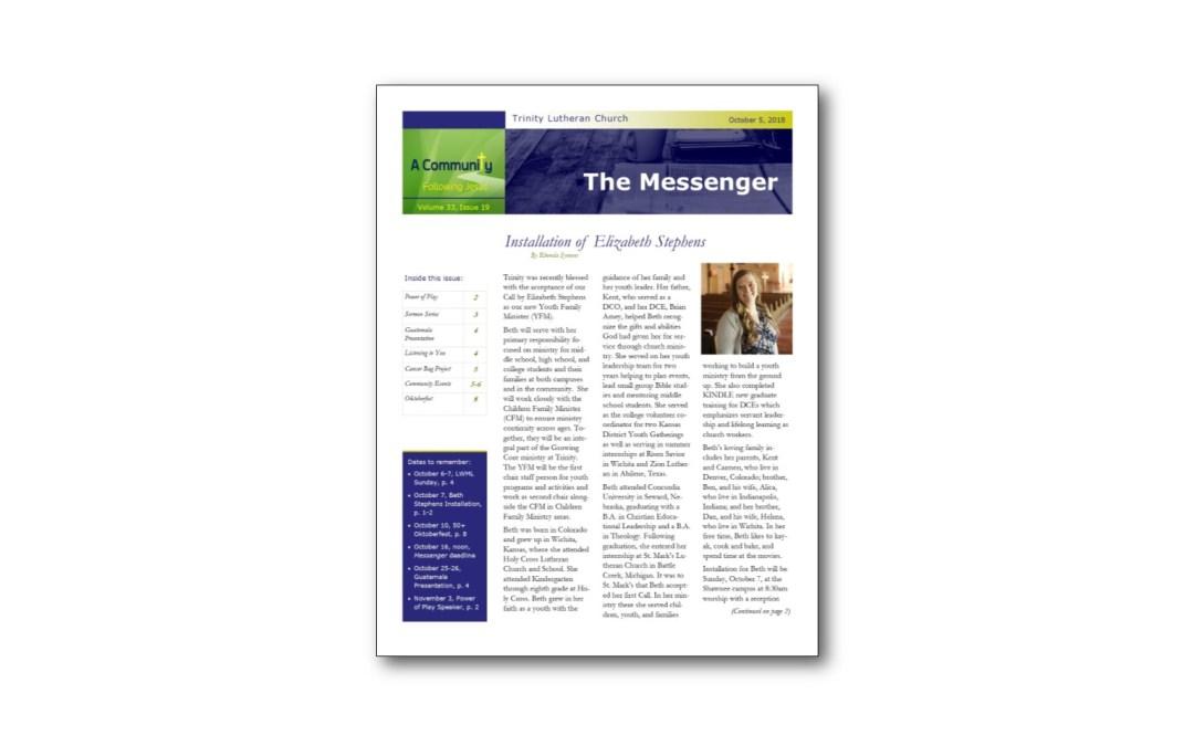 October 5 Trinity Messenger