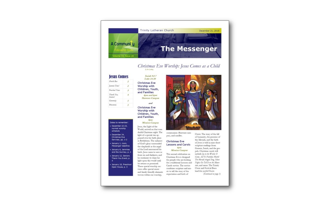December 21 Trinity Messenger