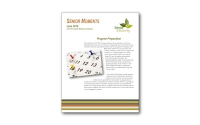 Senior Moments June Newsletter