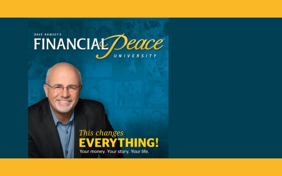 Financial Peace University Coming Soon!