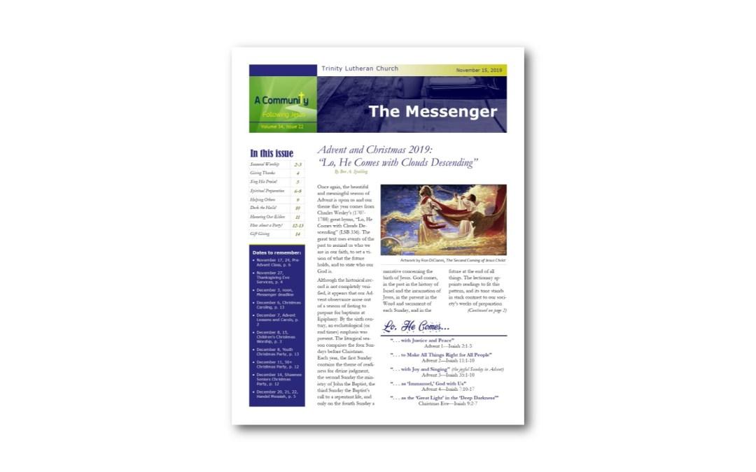 November 15 Trinity Messenger