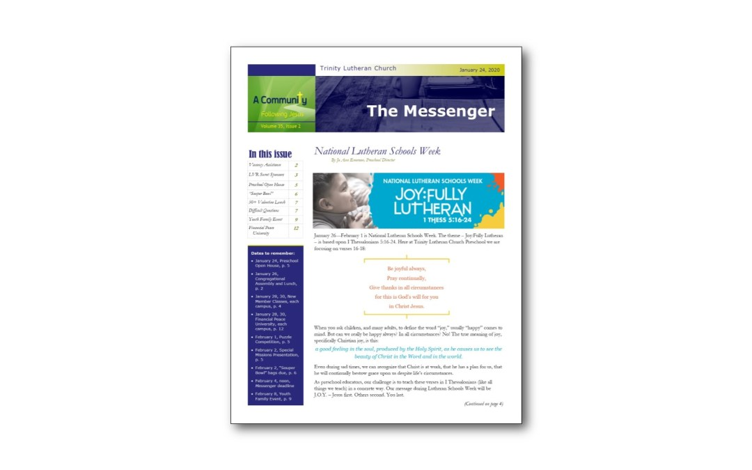 January 24 Messenger