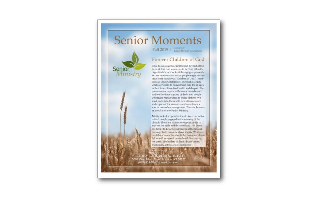 Senior Moments – Fall 2019