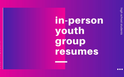 In-Person Youth Group Resumes