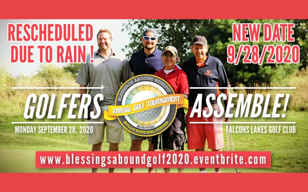Blessings Abound Golf Outing Rescheduled