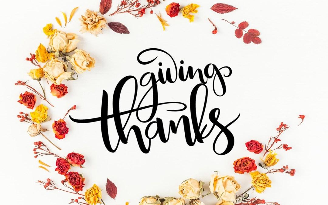 Gratitude + Giving Calendar for November – Thanksgiving Edition