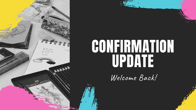 Welcome Back, Confirmation Students and Families!