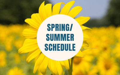 Confirmation Spring and Summer Schedule
