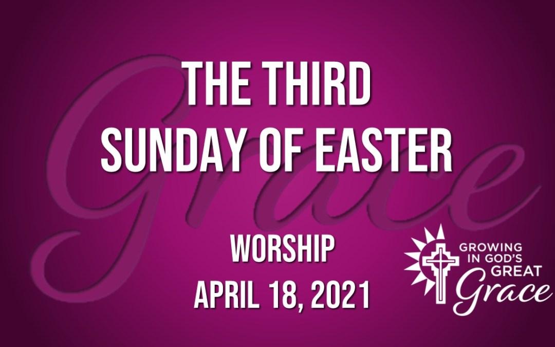 Sunday Worship – April 18