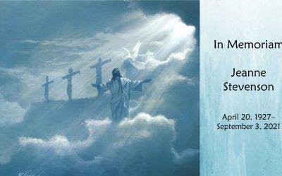 Jeanne Stevenson Funeral Service