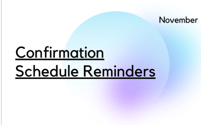Confirmation Schedule Reminders