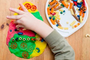 variety of colors and objects for at home sensory therapy