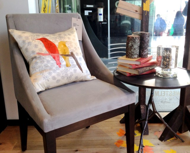 Armchair styling from West Elm
