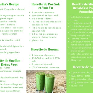 Smoothie Recipes page 2