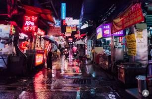 Rainy Day at Tung Hai Night Market
