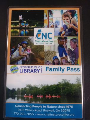 Chattahoochee Nature Center Georgia Public Library Service Family Pass -- Learn More!