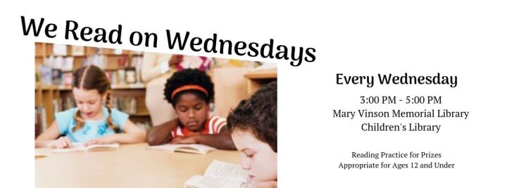 We Read on Wednesdays Every Wednesday | Image of children reading books