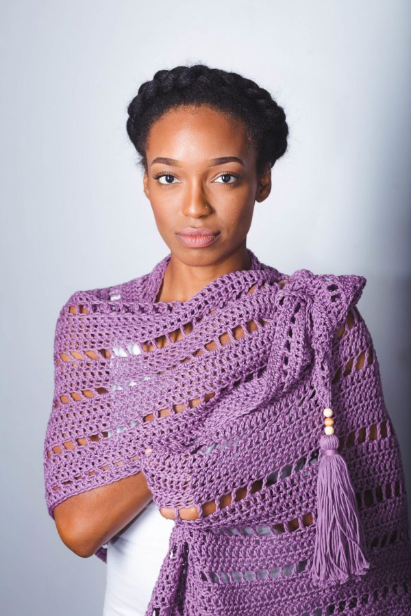 Free Yourself Shawl TL Yarn Crafts Crochet Wrap Pattern