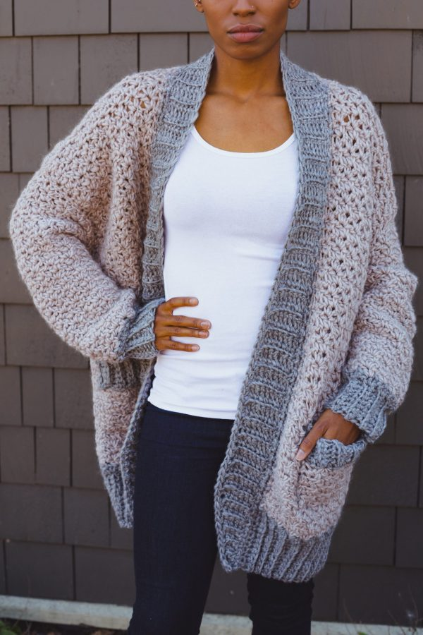 Veronica Cardi Cardigan crochet pattern from tl yarn crafts