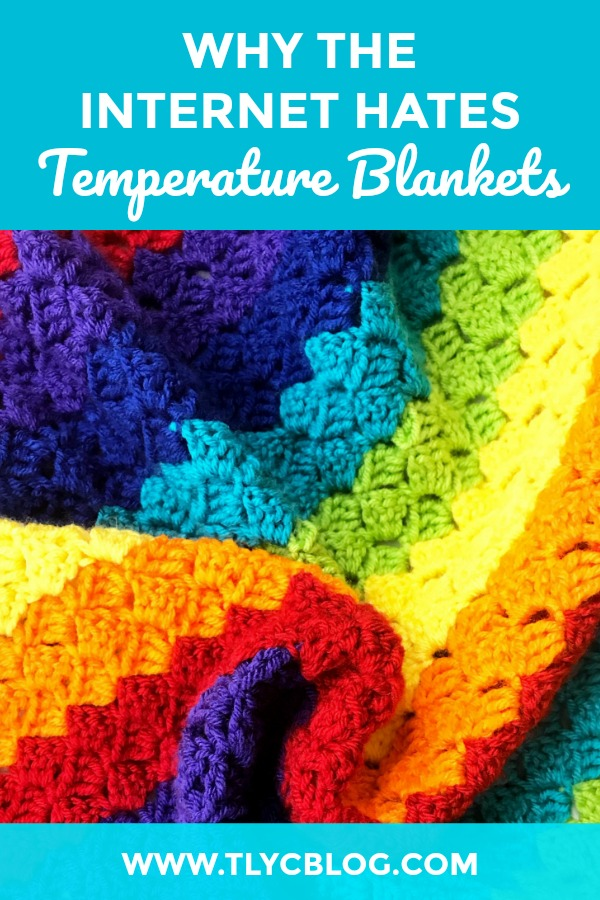 Are crochet temperature blankets dead?! Find out what happened when I asked Instagram what they thought about temperature blankets. Get ready to make your own in 2019 with a few tips and ideas to jazz up this dated craft trend. | TLYCBlog.com