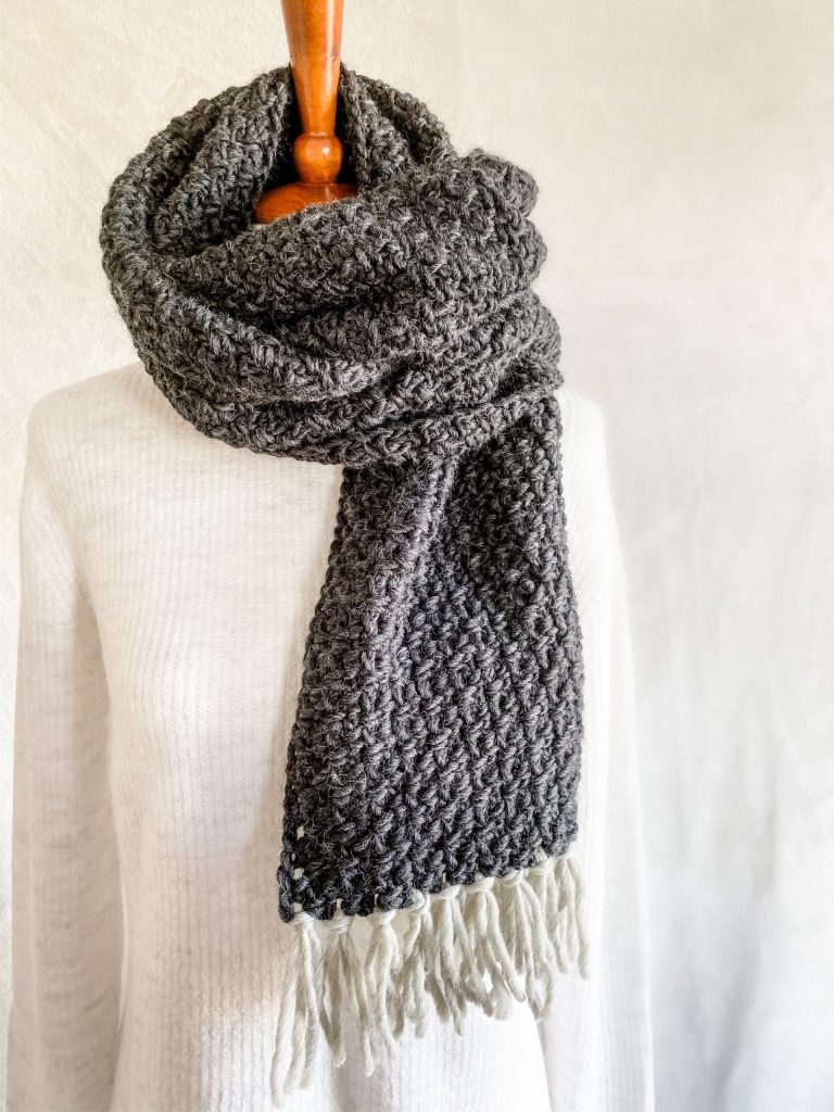 New to crochet? No problem! Make the Arctic Scarf & Cowl pattern using just two simple stitches. You get 2 projects out of this one pattern. Try this easy crochet scarf pattern today! | TLYCBlog.com