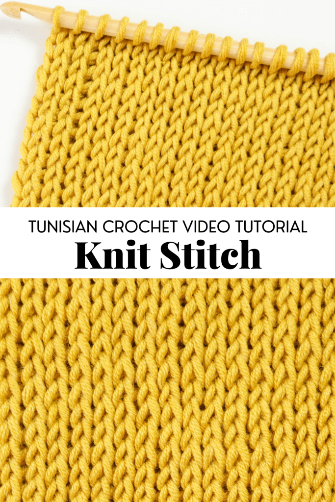 Tunisian crochet knit stitch | Free written pattern and tutorial video for Tunisian crochet beginner learn how to crochet the Tunisian crochet wave stitch | TLYCBlog.com