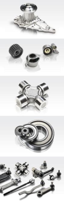 GMB ассортимент: насосы водяные, крестовины, подшипники, ролики, наконечники, шаровые опоры, рулевые тяги, рычаги
