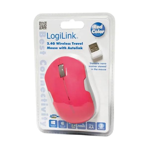 Mysz LogiLink ID0121 CZERWONA