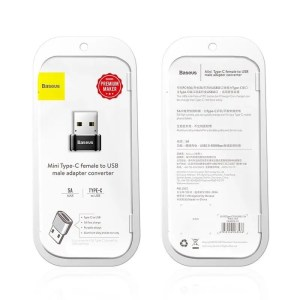 Adapter USB-C do USB-A Baseus 5A CZARNY