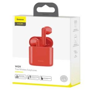 Bezprzewodowe słuchawki Baseus Encok W09 TWS Bluetooth 5.0 CZERWONE