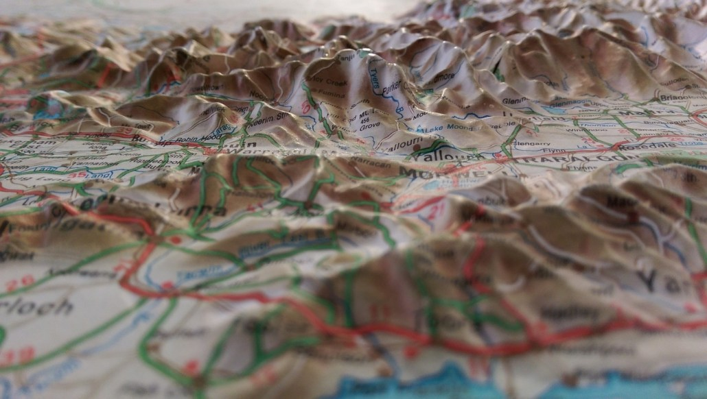 3D topographic map