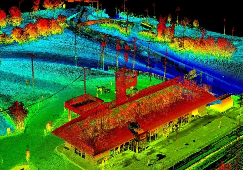 LIDAR of Dorval Via station in Montreal, Quebec