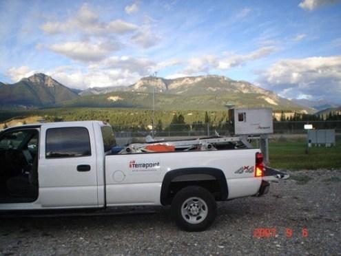 TITAN Mobile LIDAR scanner in the British Columbia Rockies