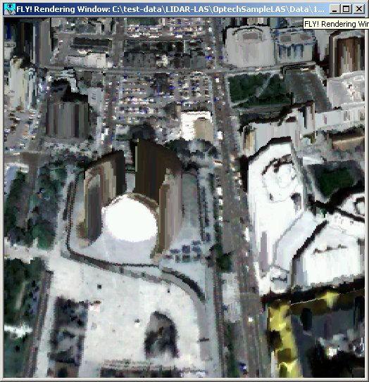 Toronto City Hall 3D LIDAR image made with PCI Geomatica