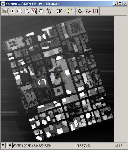 LIDAR all hits point data of downtown Toronto