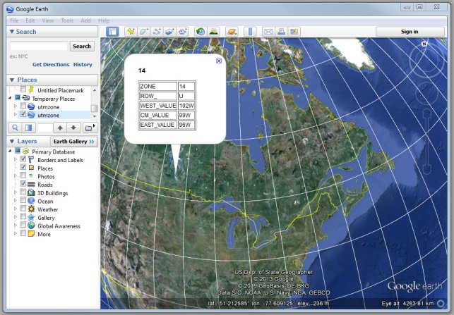 UTM Zones In Google Earth Tmackinnoncom - What map data to use with utm in us