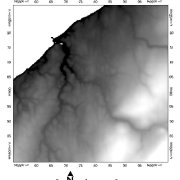Digital elevation model (DEM) of Lismore, Nova Scotia
