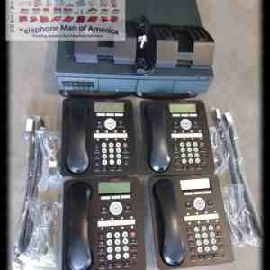 Avaya IP Office 500 V2 Phone System with 4 analog phone lines and with 4 1408 Phones