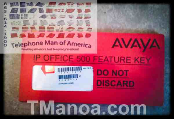 Unused Avaya IP Office 500V1 Feature Key Mu Law Smart Card 700417470