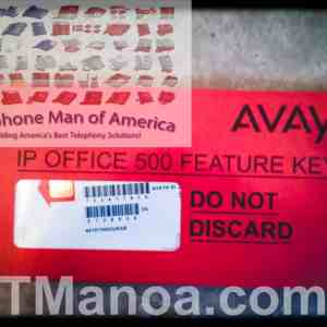 Unused Avaya IP Office 500V1 Feature Key Mu Law Smart Card 700417470