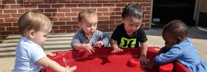 Infant Water Exploration, Montessori Private School, Arlington TX
